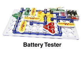 Snap Circuits XP - battery tester