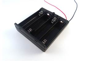 Battery holder 4xAA Cell with a switch - opened up