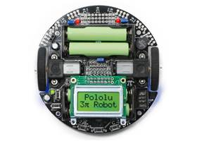 Pololu 3pi Robot top with batteries