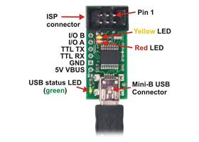 Pololu USB AVR annotated