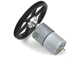 90x10mm wheel on a Pololu 37D mm metal gearmotor