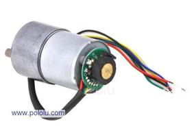 37D mm metal gear motor with 64 CPR encoder