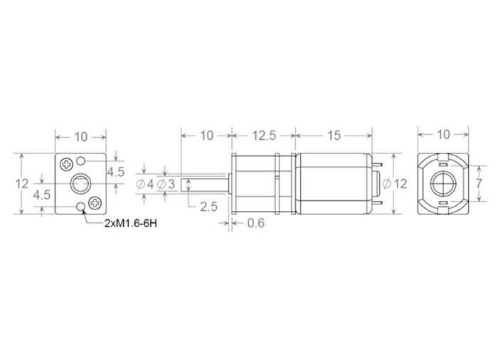 1000:1 Micro Metal Gearmotor (High Current)