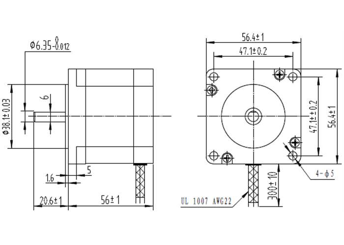 Stepper Motor: Bipolar, 200 Steps/Rev, 57×56mm, 2.5V, 2.8