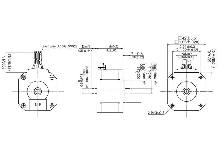 sanyo pancake stepper motor  bipolar  200 steps  rev  42 u00d718 6mm  5 4v  1 a  phase