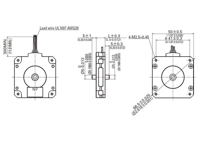 sanyo pancake stepper motor  bipolar  200 steps  rev  50