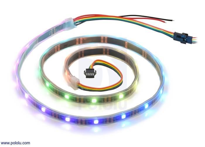Addressable RGB 30-LED Strip, 5V, 1m (APA102C)
