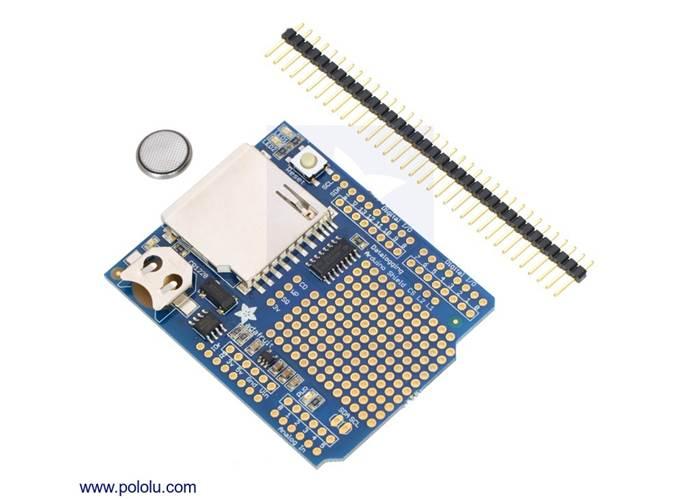 Adafruit Data Logging Shield for Arduino - Robot Gear Australia