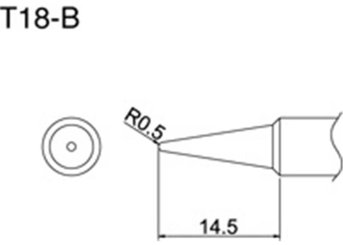 hakko t18-b soldering tip