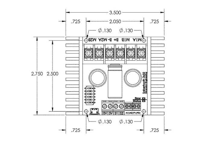 sabertooth 2x32 dual motor driver