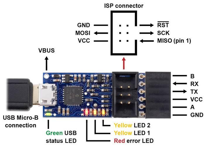 Pololu USB AVR Programmer v2 1 - Robot Gear Australia