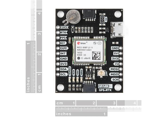Ublox GPS-RTK (Qwiic) - NEO-M8P-2 - Robot Gear Australia