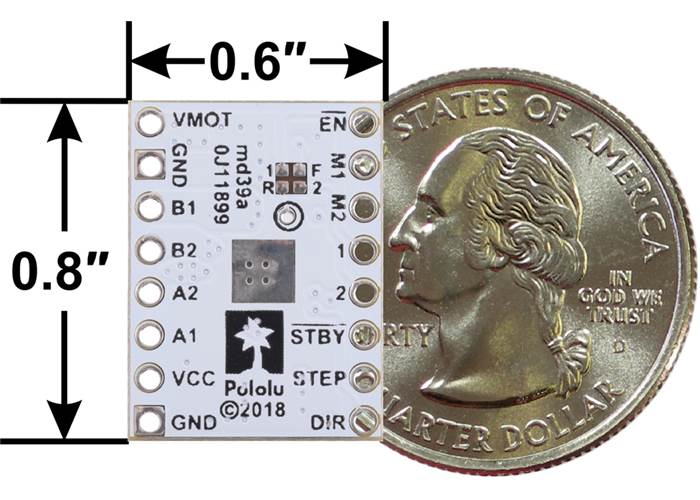 J furthermore Add moreover J together with Drv Low Voltage Stepper Motor Driver Carrier Minimal Wiring Alternative as well Mp Stepper Motor Driver Carrier Potentiometer Current Control With Included Header Pins. on wiring stepper motor driver carrier
