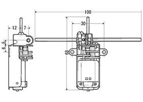 Tamiya 70103 Universal Gearbox Kit dimensions in mm