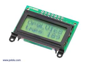8x2 parallel character LCD – black bezel with text on display
