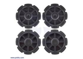 "8-tooth plastic sprocket set: two Futaba servo hubs, two idler hubs with 1/4"" holes"