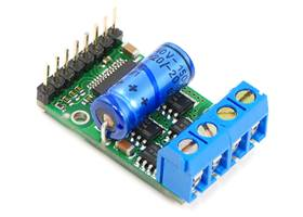 Pololu high-power motor driver with included components soldered in