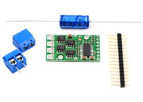 Pololu high-power motor driver and included components