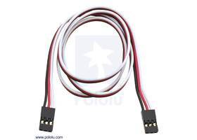 """Servo extension cable 24"""" female – female"""