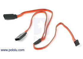 "12"" (300 mm) RC servo extension Y-cable (single female to double male)"