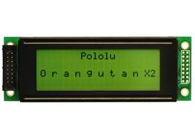 20x4 character LCD with text displayed on lines 1 and 3 (connector not included)