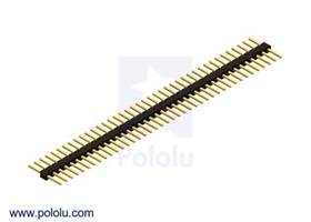 "Pololu - 0.100"" (2.54 mm) Breakaway Male Header: 1x40-Pin, Straight, Double-Sided"