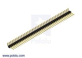 "Pololu - 0.100"" (2.54 mm) Breakaway Male Header: 1x40-Pin, Right Angle"