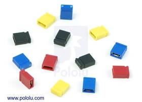"0.100"" (2.54 mm) shorting blocks in assorted colors"