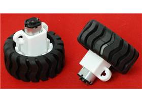 Micro metal gearmotor with Pololu wheel 42x19mm and extended bracket