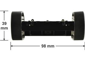 Pololu Zumo chassis kit - side dimensions