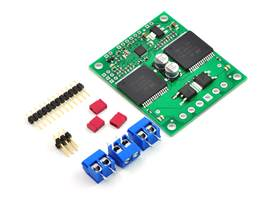 Pololu qik 2s12v10 dual serial motor controller with included hardware