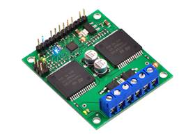 Pololu qik 2s12v10 dual serial motor controller with included hardware soldered in place