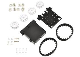 Pololu Zumo chassis kit components