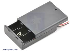 3-AA battery holder enclosed with switch