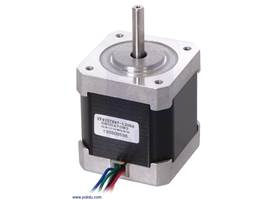 Stepper motor: unipolar/bipolar, 200 steps/rev, 42x48mm, 4V, 1200mA (SY42STH47-1206A)