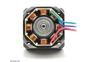 The inside of a bipolar stepper motor