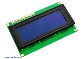 20x4 white-on-blue character LCD with LED backlight