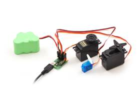Micro Maestro 6-channel USB servo controller (fully assembled) controlling three servos
