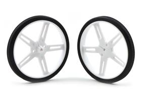 Pololu wheel 70x8mm pair – white