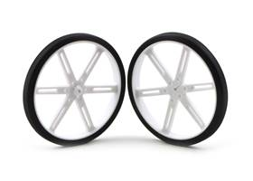 Pololu wheel 90x10mm pair – white