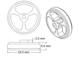 Wheel 32x7mm dimensions