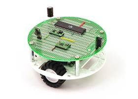 "Pololu 5"" round robot chassis RRC04A with PCB01A 5"" round prototyping PCB"