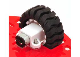 "The Pololu 5"" round robot chassis RRC04A using an included spacer"