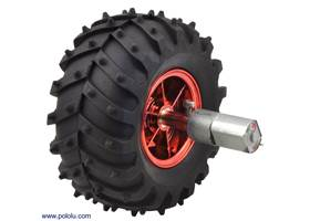 Dagu Wild Thumper wheel 120x60mm (metallic red) with Pololu 20D mm metal gearmotor