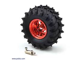 Dagu Wild Thumper wheel 120x60mm (metallic red) with included 4mm hub adapter