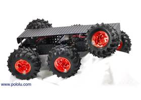 Dagu Wild Thumper 6WD all-terrain chassis, black with metallic-red hubs
