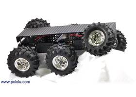 Dagu Wild Thumper 6WD all-terrain chassis, black with chrome-colored hubs