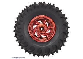 Dagu Wild Thumper wheel 120x60mm (metallic red) interior view