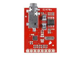 Evaluation Board for Si4703 FM Tuner, top view