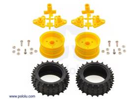 Parts included in the Tamiya 70194 Spike Tire Set